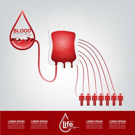 Bloeddonatie Vector Concept - Ziekenhuis nieuw leven opnieuw beginnen Stock Illustratie