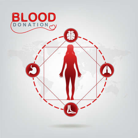 start: Blood Donation Vector Concept - Hospital To Begin New Life Again