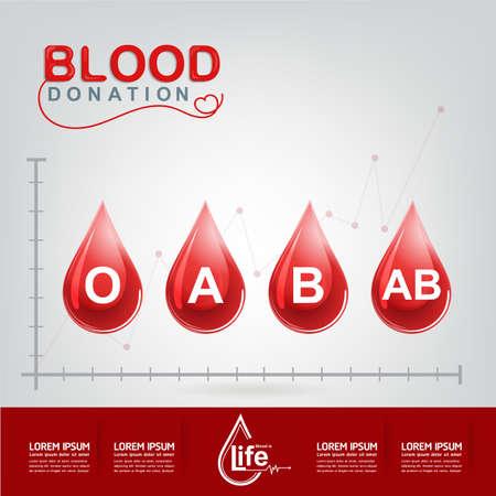 comenzar: Donaci�n de Sangre del vector Concepto - hospital para comenzar nueva vida otra vez Vectores