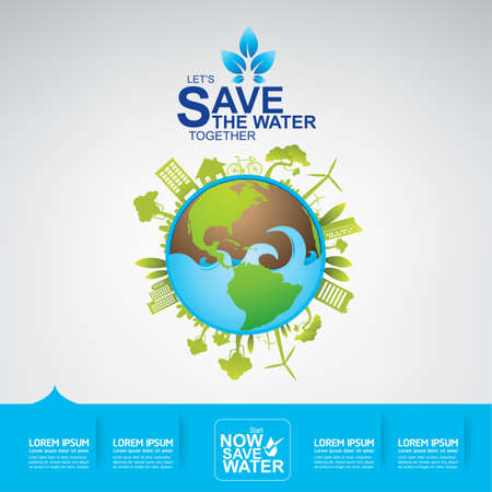 Save The Water Concept Ilustracja