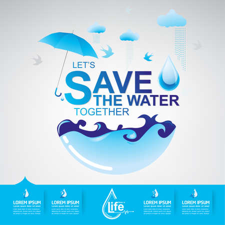 Save The Water Concept Illustration