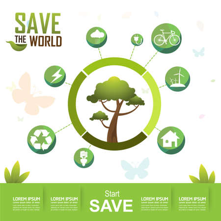 go green save the earth