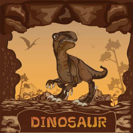 prehistory: Dinosaur illustration Vector Concept
