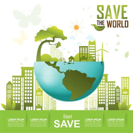 konzepte: Retten Sie die Welt, und Go Green Concept