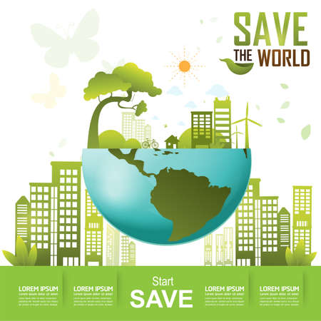 natural energy: Save the World and Go Green Concept