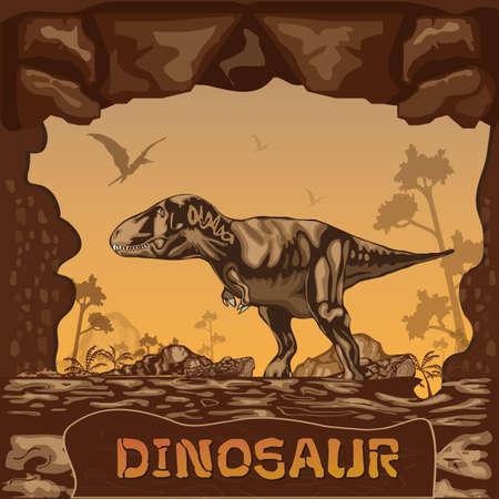 dinosaur: Dinosaur illustration Vector Concept