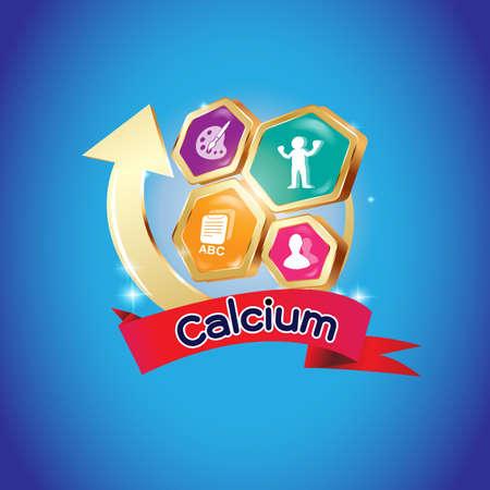 calcium: Kids Calcium Omega 3 Vitamin Concept
