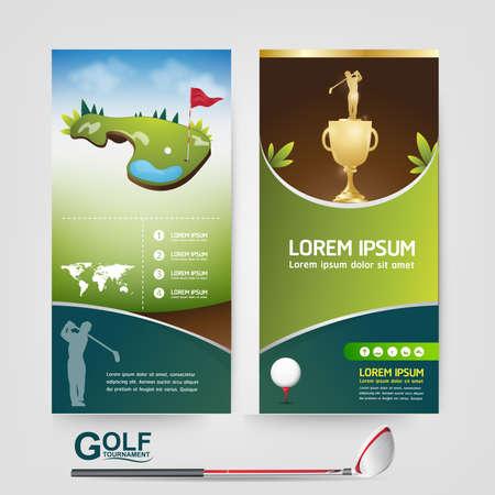 tournament: Golf Ball Vector Concept Golf Tournament World