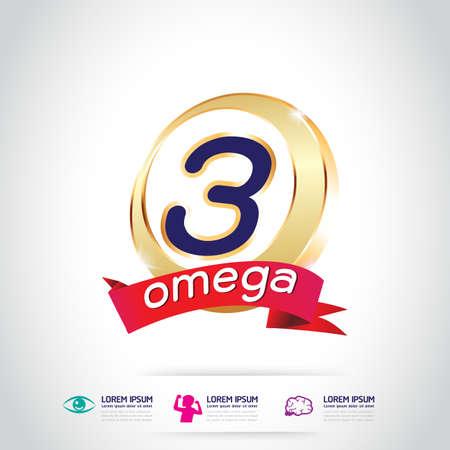 Enfants Omega 3 Vitamine Concept Banque d'images - 47694914