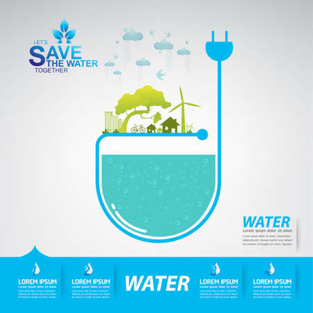 fresh water splash: Save The Water