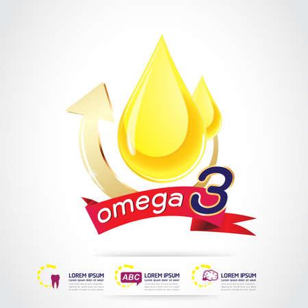 Kids Omega 3 vitamine Concept