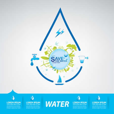 energy background: Save The Water Vector