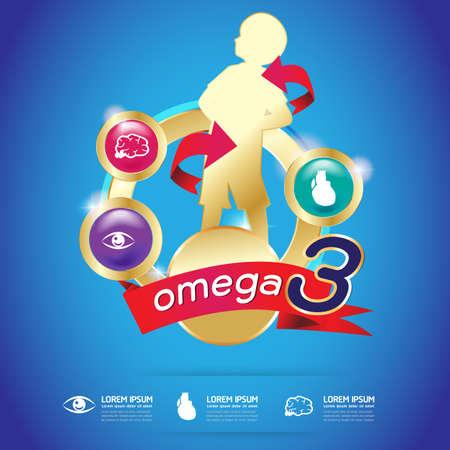 calcium: Kids Omega 3 Vitamin Calcium Vector