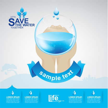 clean: Save The Water Vector