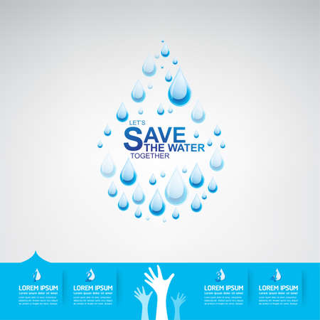 drop water: Save The Water Vector