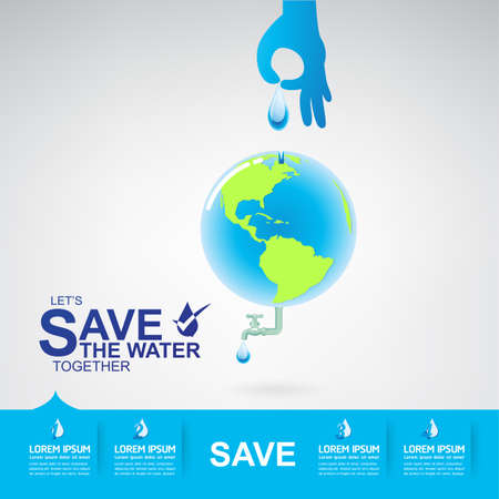 water icon: Save The Water Vector