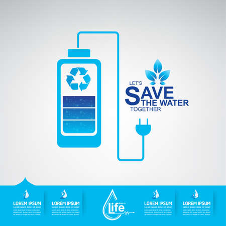 green water: Save The Water Vector
