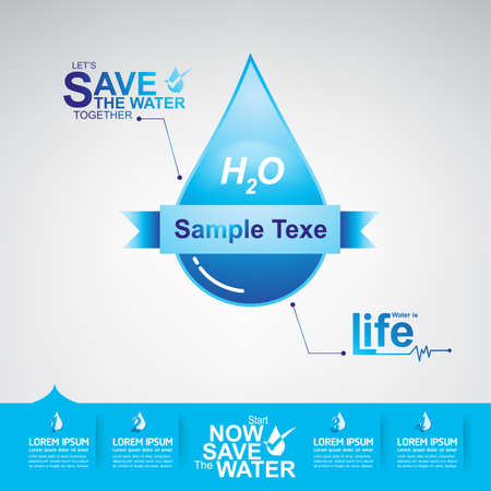 ecological environment: Save The Water Vector