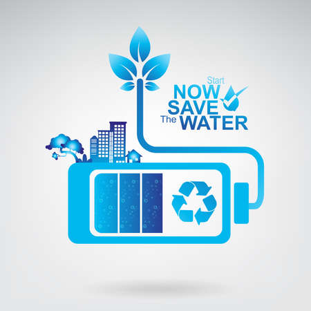 saving: Save The Water Vector