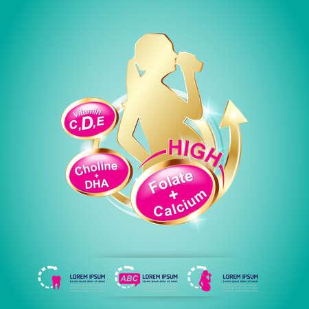 Kids Vitamin Logo packaging Vector Illustration