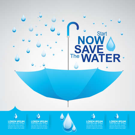 fresh water splash: Save The Water Vector