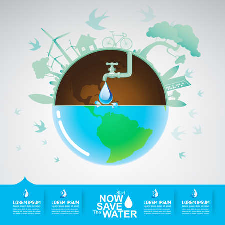 water: Save The Water Vector