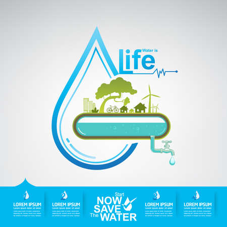 drop of water: Save The Water Vector