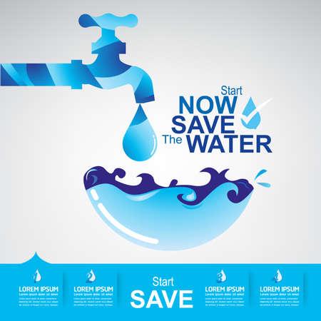gota: Ahorre El Vector Agua