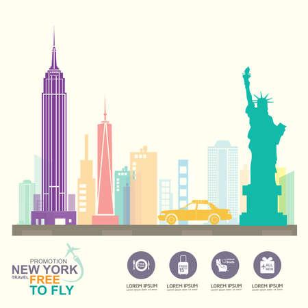 newyork: Travel Destination Concept Travel Around the World