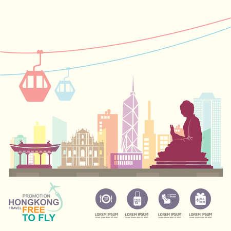 hongkong: Travel Destination Concept Travel Around the World