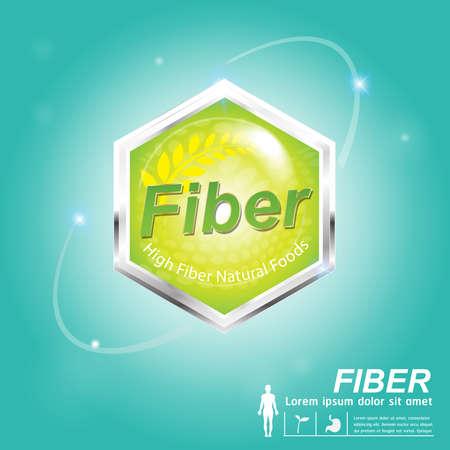 nutrition label: Fiber foods Nutrition  Label Vector Concept Illustration