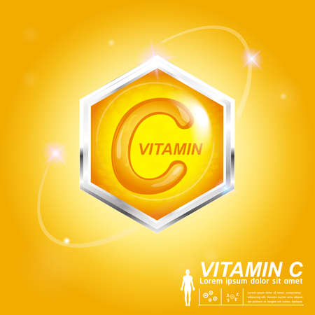 vitamin c: Nutrition  Label Vector Concept
