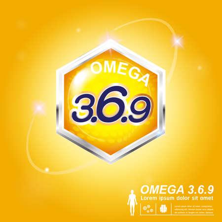 nutrition label: Omega Nutrition  Label Vector Concept Illustration
