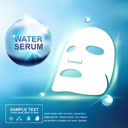sections: Collagen and Serum Skin Care Background Concept Cosmetic for Skin. Illustration