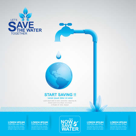 recycle symbol vector: Save Water Day