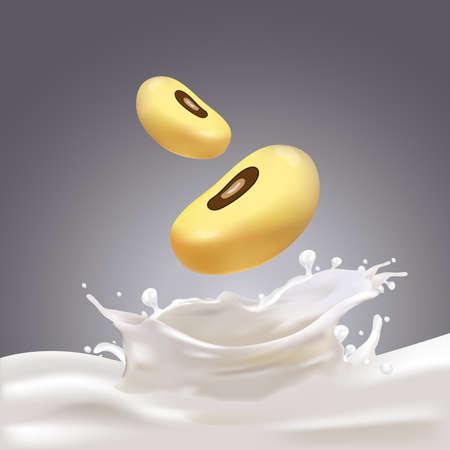 Melk, yoghurt Splashing Vector Concept Stock Illustratie