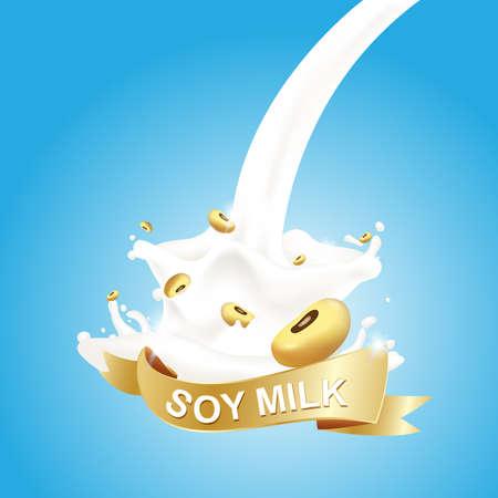 carton de leche: Leche, Yogur Concepto Salpicar vectorial