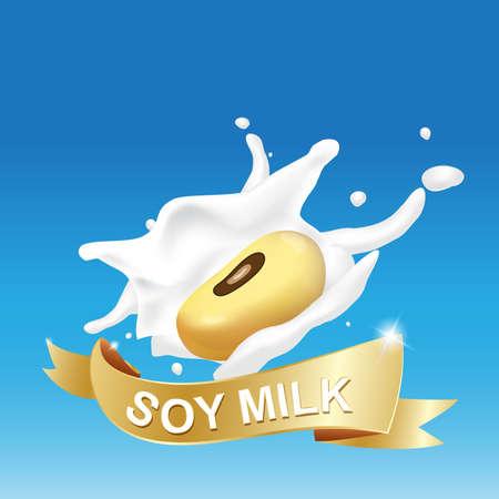 Melk, yoghurt Splashing Vector Concept