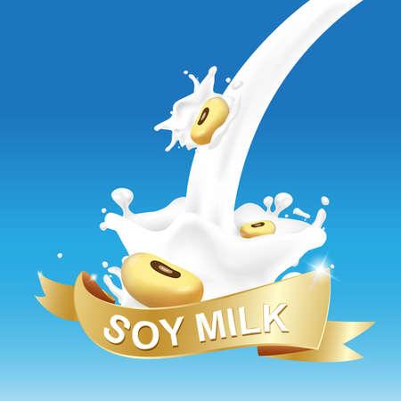 Milk, Yogurt Splashing Vector Concept