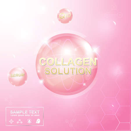 Collagen und Serum Hintergrund Konzept Kosmetik für die Haut Standard-Bild - 50203536