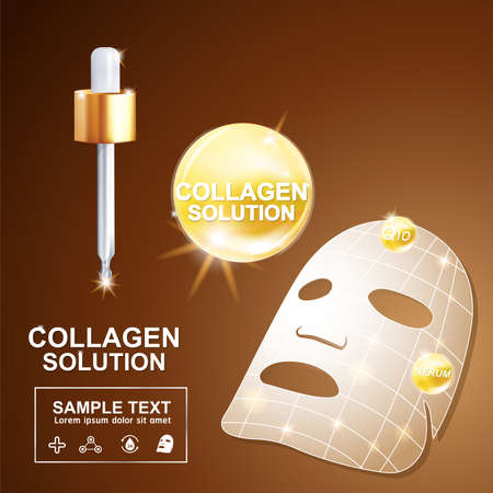 crinkle: Collagen and Serum Background Concept Cosmetic for Skin