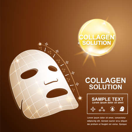 Collagen and Serum Background Concept Cosmetic for Skin