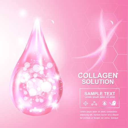 skincare: Collagen and Serum Background Concept Cosmetic for Skin