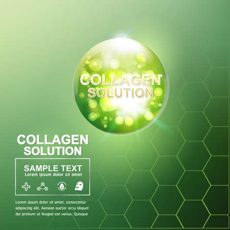 pucker: Collagen and Serum Background Concept Cosmetic for Skin