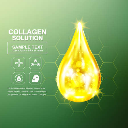 dermatology: Collagen and Serum Background Concept Cosmetic for Skin