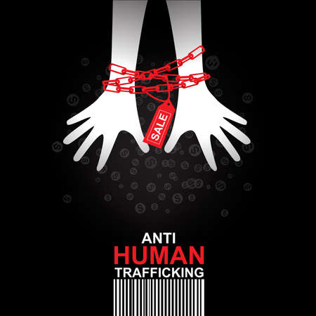Stop Human Trafficking Vector Concept Human Sale