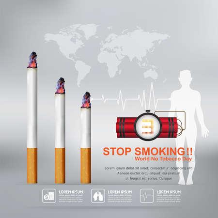 tobacco: World No Tobacco Day Vector Concept Stop Smoking Illustration
