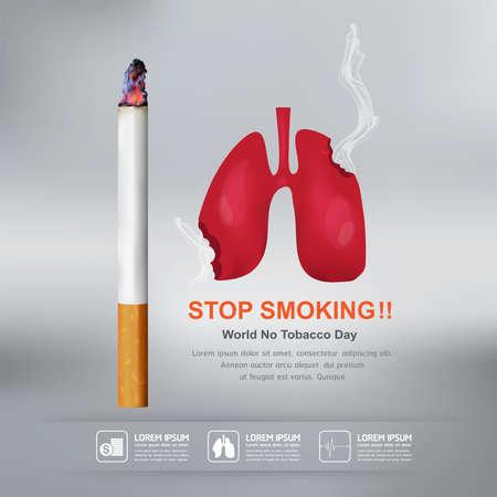 World No Tobacco Day Vector Concept Stop Smoking 일러스트