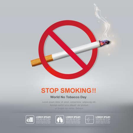 世界无烟日载体概念停止吸烟