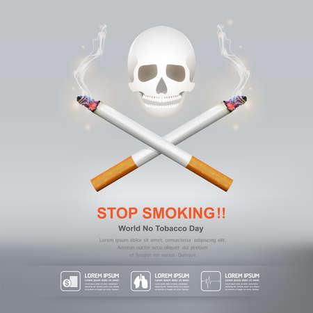 World No Tobacco Day Vector Concept Stop Smoking Illustration